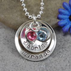 Hand Stamped Jewelry  Personalized Jewelry  by DesignsbyDaniella