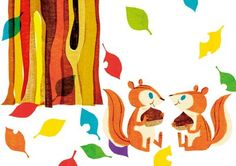Yamauchi Kazuaki Squirrel Illustration, Illustration Art, Animal Illustrations, Doodle Sketch, Doodle Art, Squirrel Art, Animals For Kids, Draw Animals, Woodland Creatures