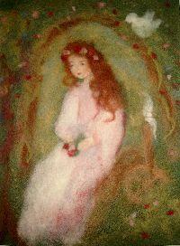 Märchenwollbilder - Krippenfiguren, Engel, Mobiles aus Schafwolle