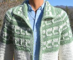 vintage 60s COWICHAN sweater cardigan hand knit geometric shawl collar Medium Large unisex tribal 70s by skippyhaha