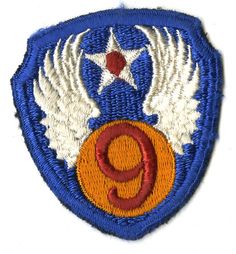 WWII Army Air Corps 9th Air Force Class A Patch | Full Color
