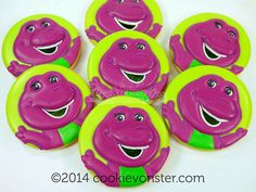 Barney Cookies~ by Cookievonster, purple dinosaur