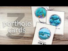 3 Clean-and-Simple Porthole Cards - YouTube