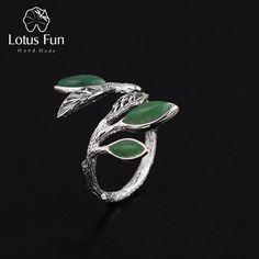 Lotus Fun Real 925 Sterling Silver Natural Stone