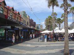 The Corso in Manly Beach ,Sydney Australia