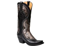 Lucchese Women's Boots | Averill | Ranch Hand in Black & Pewter #LuccheseBoots www.lucchese.com
