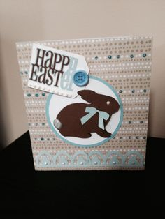 easter card made using the cricut explore