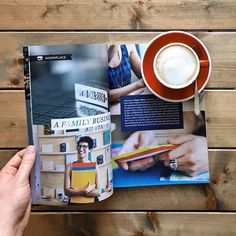 """@coffeetablemags's photo: """"Good morning Thursday! I'm reading an article about Paper Chase Press, a family-run print shop located in Los Angeles, in Pure Green Magazine – Volume 9, and enjoy a cup of coffee to start into this wonderful sunny day. #puregreenmagazine #coffeetablemags #paperchasepress"""""""