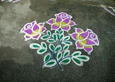Rangoli Ideas, Rangoli Designs Diwali, Kolam Rangoli, Kolam Designs, Simple Rangoli, Latest Rangoli, Indian Rangoli, Beautiful Rangoli Designs, Hand Embroidery