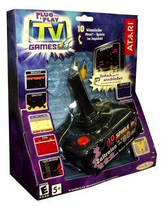 Atari 10 klassische Spiele im Joystick - Plug & Play TV Retro-Spiele  #retro #spiele #atari #games