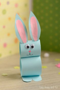 Kids Crafts Easy Easter - Paper Bunny Craft Easy Easter Craft for Easter Crafts for Kids - Fun DIY Ideas for Kid-Friendly Easter Activities - Country LivingPaper Bunny Craft – Easy Easter Craft for Kids There's just enough time left to ma Easter Crafts For Toddlers, Spring Crafts For Kids, Easter Projects, Bunny Crafts, Crafts For Kids To Make, Easter Crafts For Kids, Easter Activities, Craft Projects, Easter Ideas