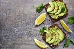 "A recipe from 1885 called avocado toast ""delicious for breakfast or lunch. Healthy Eating Tips, Healthy Snacks, Superfood, Avocado Toast, Ezekial Bread, Whole Grain Foods, Avocado Health Benefits, Brunch, Butter"