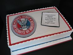 individual eagle scout cakes | Please click on the picture to enlarge and read a description.