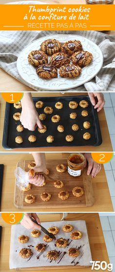 Thumbprint cookies with milk jam - cake and cookie Cereal Cookies, Yummy Cookies, Cookies Et Biscuits, Cookie Recipes, Dessert Recipes, Best Christmas Cookies, Thumbprint Cookies, Biscotti, Food And Drink