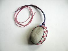 Ecocrafta: macrame wrapping technique -EASY- stone wrapping