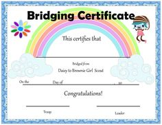 Hey there troop leaders!  It's that time to wrap up the year!Last week I created these certificates  that I wanted to share with you all. I'm planning the court of Awards and  Bridging ceremony this week and we are going on vacation next week so this  is a short and sweet post.  Here they ar Girl Scout Bridging, Girl Scout Troop, Brownie Girl Scouts, Daisy Petals, Free Girl, Award Certificates, Daisy Girl Scouts, End Of Year, Brownies
