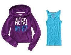 Aeropostale Womens; Juniors Aero NY 87 Cropped « Clothing Impulse