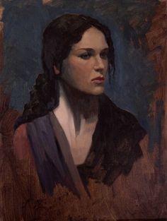 "Saatchi Online Artist: Michael Foulkrod; Oil, 2013, Painting ""Jane"""
