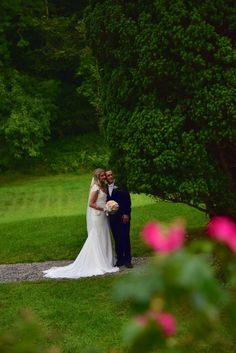wedding couple caught on camera in the woods