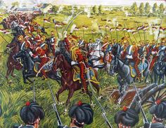Charge of the Dutch Red Lancers at the Battle of Waterloo