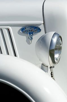 1936 Ford Pickup V8 Emblem - Car Images by Jill Reger: