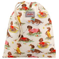 Sausage Dog Kids Drawstring Washbag | Cath Kidston | So stinkin cute! Would be perfect for keeping my planner in.
