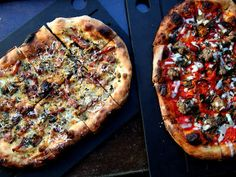 Serious Pie in Seattle's Belltown neighborhood. Try the sweet fennel sausage and the roasted seasonal mushroom pizzas.