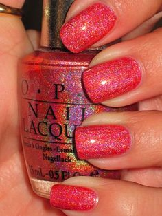 - DS Couture love Gotta get this for summer! Steph, isn't this the coral diamond OPI color we love! Get Nails, Fancy Nails, Love Nails, How To Do Nails, Hair And Nails, Fabulous Nails, Gorgeous Nails, Pretty Nails, Pretty Toes