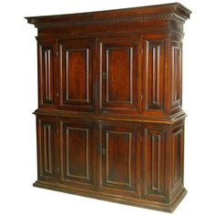 A 17th Century Italian Walnut Side Cabinet #GISSLER #interiordesign