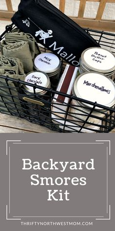 This Backyard Smores Kit is perfect for Summer Gatherings to enjoy a s'mores around the firepit or campfire. It also makes a great gift idea for birthdays, Father's Day & family gift for summertime! Enjoy Summer, Summer Fun, Summer Ideas, Summer Recipes, Smores Kits, Marshmallow Roasting Sticks, Fire Pit Accessories, Wire Basket Storage, Summer Centerpieces
