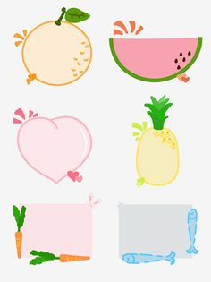 Hand drawn cartoon fruit and small animal dialog borders for commercial elements PNG and PSD Bullet Journal Banner, Bullet Journal Art, Pencil Clipart, Free Printable Card Templates, Diary Decoration, Hand Drawn Arrows, Doodle Frames, Print Calendar, Portfolio Covers