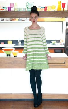 Swing jumper dress by Sian Brown. Knitting Magazine - Crafts Institute