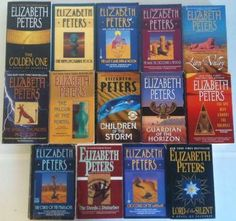 I simply adore the Amelia Peabody series that Elizabeth Peters has written about a mystery solving archaeologist in Egypt at the turn of the century.  Elizabeth Peters was actually an archeologist.  Amelia has her handsome husband and her family, cats, mummies and FUN!