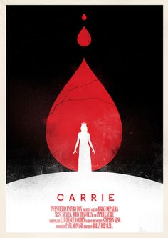 Another Carrie movie poster design- probably my favorite. It's not as graphic as some other posters but it still comes across pretty menacingly- wonderful
