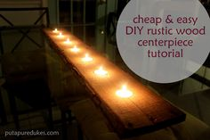 tutorial: cheap and easy rustic tealight centerpiece #DIY