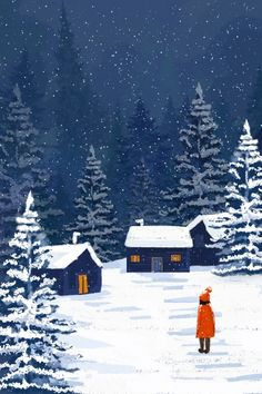 Winter Winter Into The Winter Snowing, Snow, Girl, Snow Scene Illustration Image on Pngtree, … – winter girl Painting Snow, Winter Painting, Winter Art, Winter Snow, Fuchs Illustration, Winter Illustration, Christmas Illustration, Snow Scenes, Winter Scenes