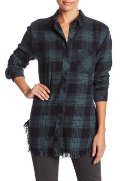 b4dcd7de68 Beach Lunch Lounge - Elyse Plaid Frayed Hem Shirt at Nordstrom Rack. Free  Shipping on