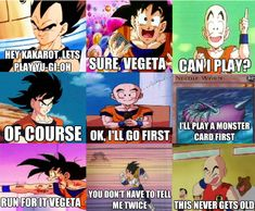 Goku's scared of needles and vageta's scared of worms perfect krillin