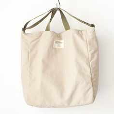 WONDER BAGGAGE ワンダーバゲージ Relax tote 2 : beige × forest リラックス トート 2 ベージュ フォレスト Pouch Bag, Tote Bag, Canvas Bags, Baggage, Fashion Bags, Sunnies, Style, Totes, Swag