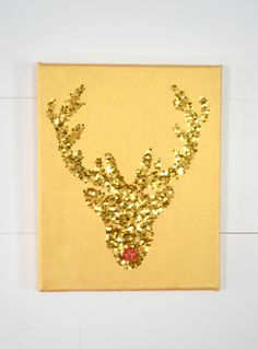 A tutorial on how to make your own tone on tone gold deer silhouette - iamahomemaker.com