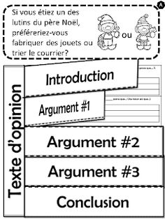 Écrire un texte d'opinion - L'Halloween Writing Traits, Writing Lessons, Teaching Writing, Teaching Tools, Education And Literacy, French Education, Teacher Education, Teaching French Immersion, French Flashcards