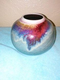 Vintage signed vase glazed vase by VintageByWe on Etsy, $20.00