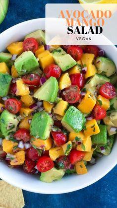 Fresh Salad Recipes, Summer Salad Recipes, Avocado Recipes, Healthy Salad Recipes, Whole Food Recipes, Diet Recipes, Healthy Snacks, Vegan Recipes, Healthy Eating