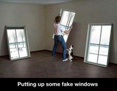 Putting up fake windows