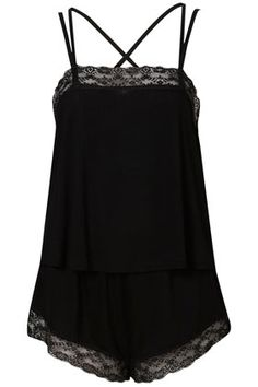 Strapy Lace Cami And Short Set