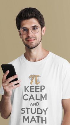 Keep Calm And Study, Keep Calm Quotes, Math Resources, Funny Tshirts, Mens Tops, T Shirt, Supreme T Shirt, Math, Tee Shirt