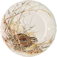 Gien France, Animal Painter, Autumn Table, China Painting, China Porcelain, Painted Porcelain, Porcelain Ceramics, Plate Sets, Earthenware