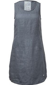 Zomerjurken - Cecil Mouwloze jurk van linnen