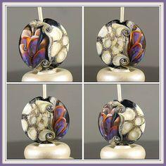 Lampwork Petal Focal Bead by Jacqueline Parkes