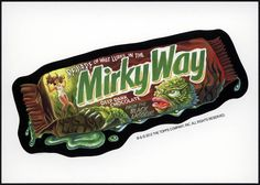 single wacky packages | Topps – Wacky Packages Halloween Postcard Series 2012 – Murky Way